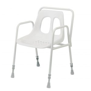 Adjustable height stationary shower chair-4553/EX-0