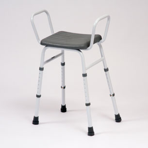 Adjustable height perching stool with arms only-5655C-0